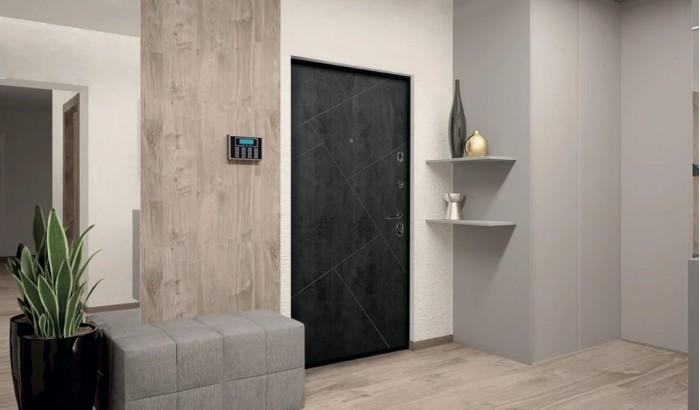 Входная дверь с покрытием камень