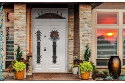 двухполая дверь с окном