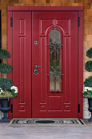двухстворчая дверь с оном